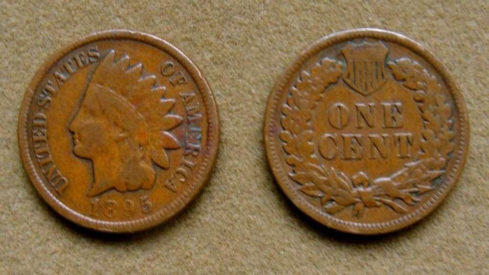 Moneda de 1 cent Estados Unidos 1895