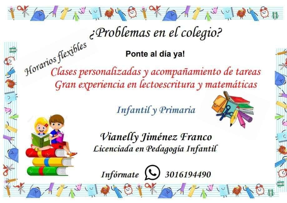 Clase Personalizada Preescolar Primaria