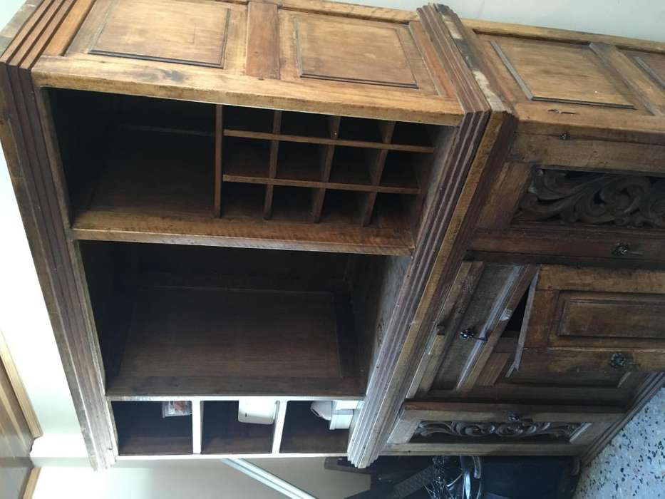 Mueble Bifé de Madera Fina, estilo Punta Larga