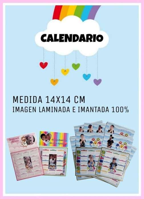 Calendario Personalizado 14x14 Cm