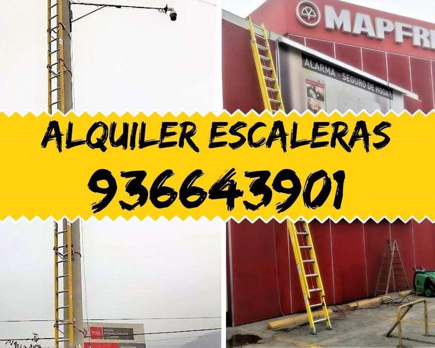 Alquiler Escalera Telescopica, tijera, Embonable, Andamios
