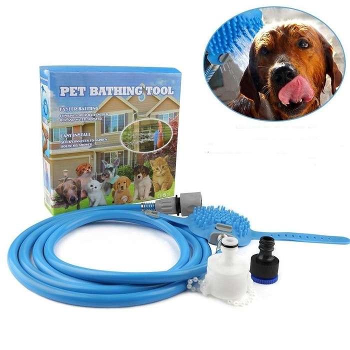 Manguera Cepillo Baño Mascota <strong>perro</strong> Gato Pet Bathing Tool