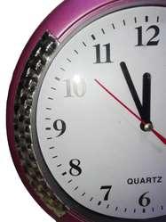 Adorno Reloj circular Pared 23cm Decoracion sala casa oficina Regalo Navidad amor