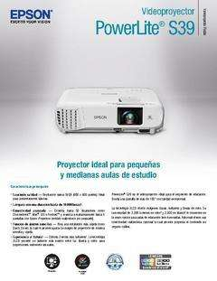 PROYECTOR EPSON S39 H854A SVGA 3300 LUMENES ,SUPER OFERTA