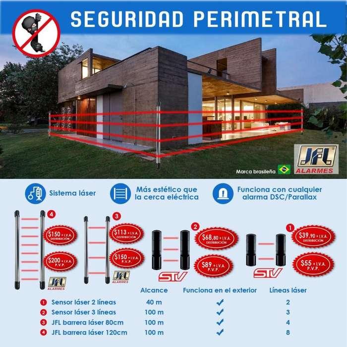 seguridad perimetral , seguridad laser , fotobeam,