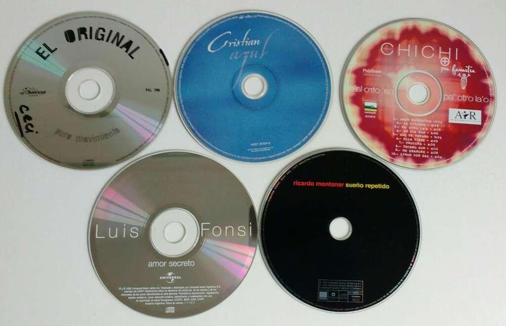 Cds 4 originales musica Cristian Castro Chichi Fonsi Cdjess