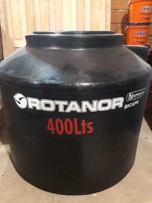 Tanque de Agua Rotanor 400lts Bicapa