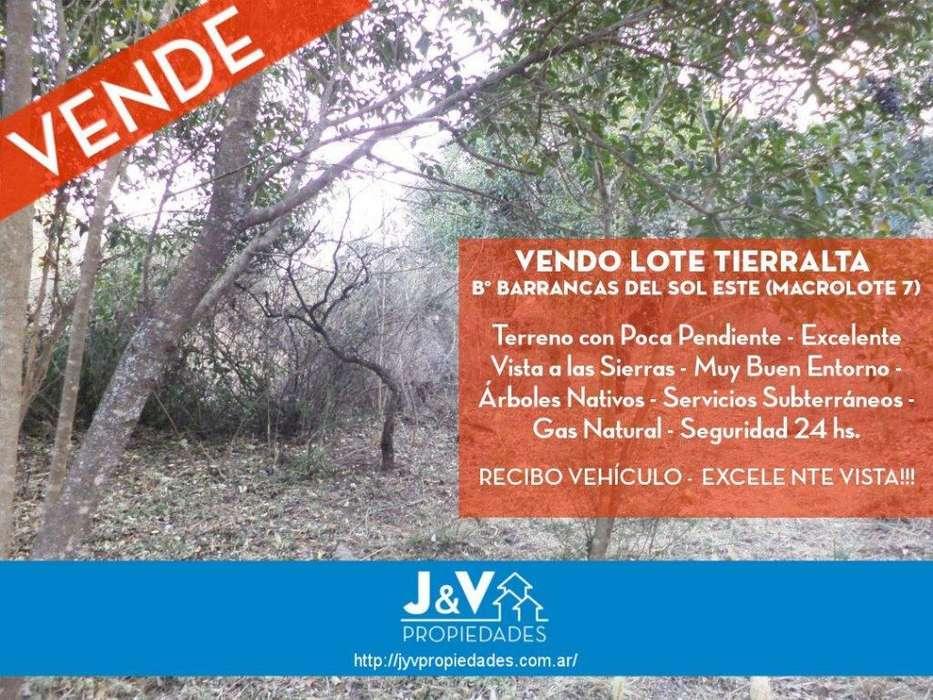 VENDO LOTE 1.225 M2 TIERRALTA (MACROLOTE 7) - EXCELENTE VISTA!!!