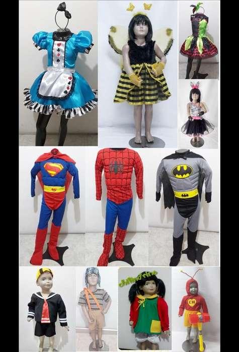 Venta de disfraces variados y Nuevos para halloween niños y niñas