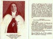 Lote de 5 Estampas Antiguas de Sor Teresa de Los Andes
