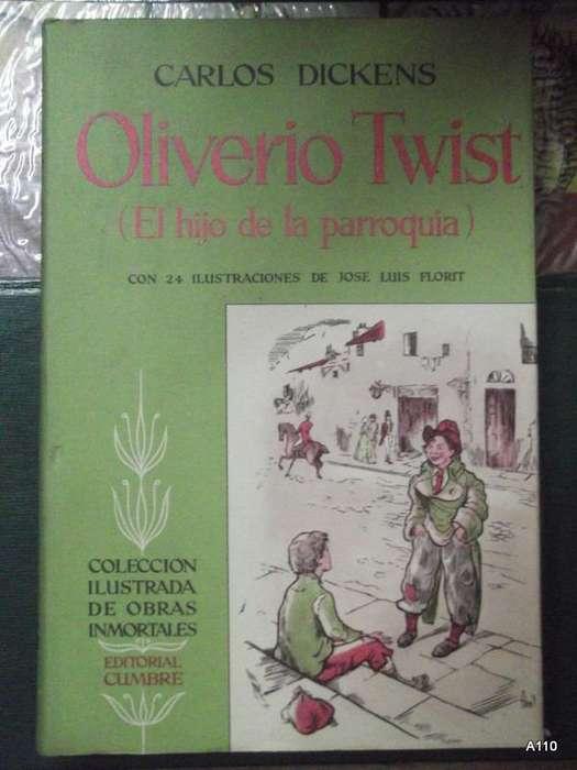 LIBRO Oliverio Twist. Carlos Dickens Ed Cumbre Tapa Dura