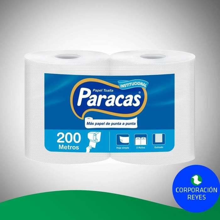 Papel Toalla Multiuso Institucional Paracas 2x Unds.