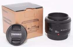 Nuevo Combo Lente Yongnuo 50 mm para Canon y regalos