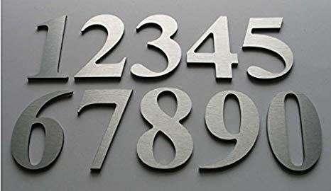 Se vende letras y números en acero inoxidable en 6 soles