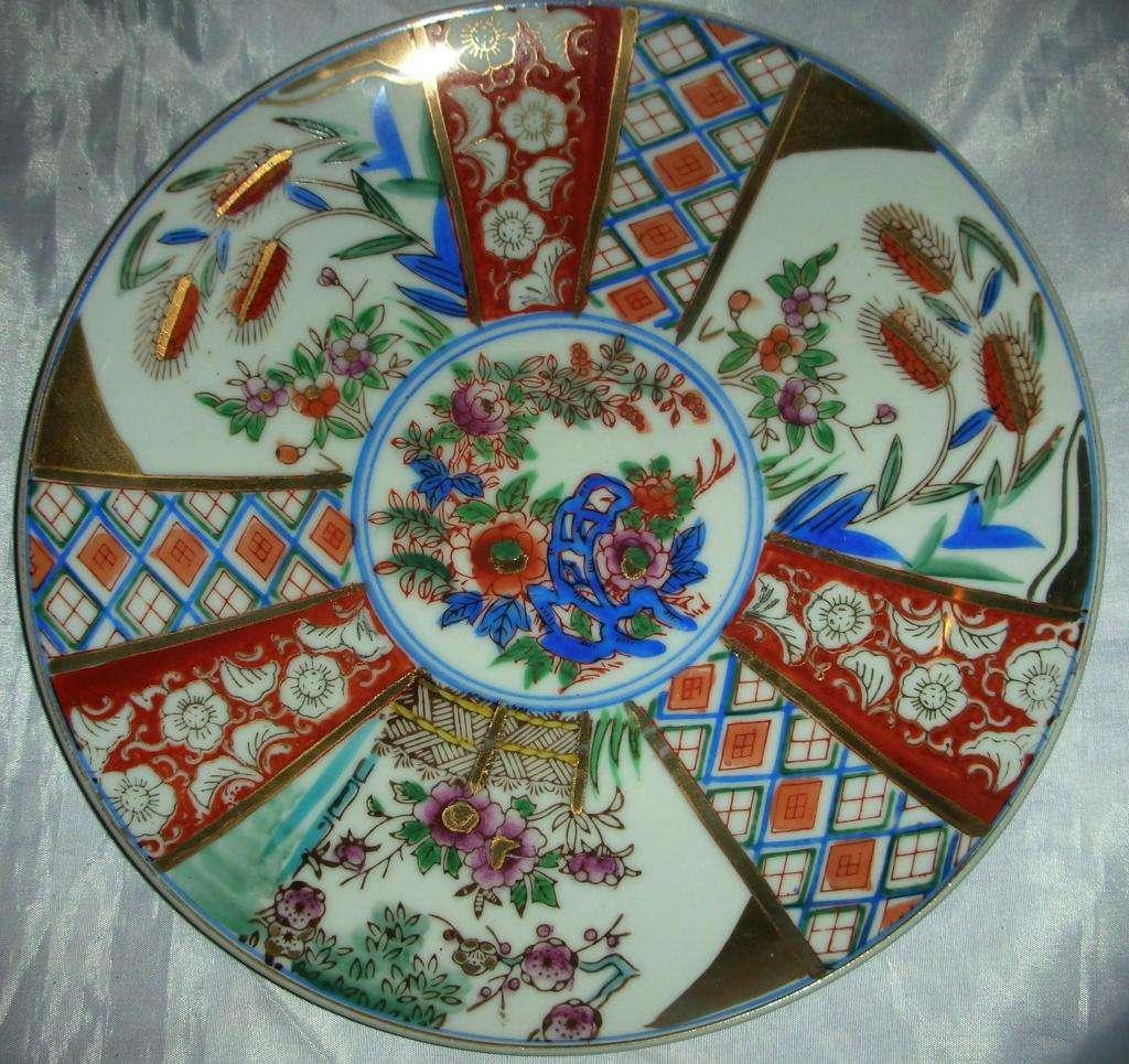 Exquisito Plato de porcelana oriental JAPAN 25 cm diam