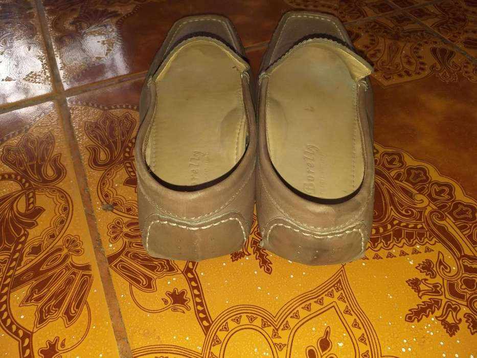 Mocasines 100 cuero color marron