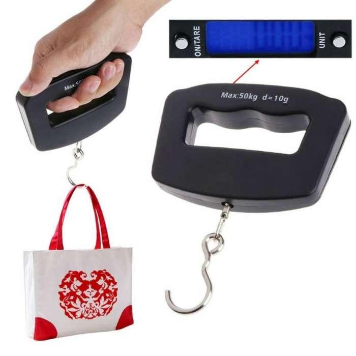 Practica Balanza Digital para equipaje Portátil