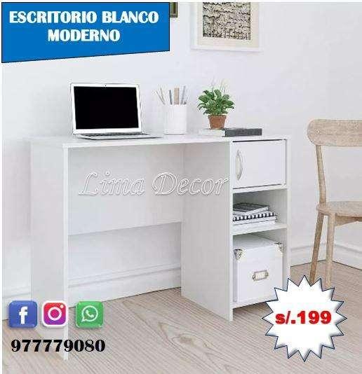escritorio de melamina mueble de melamina nuevo con pasacable gratis