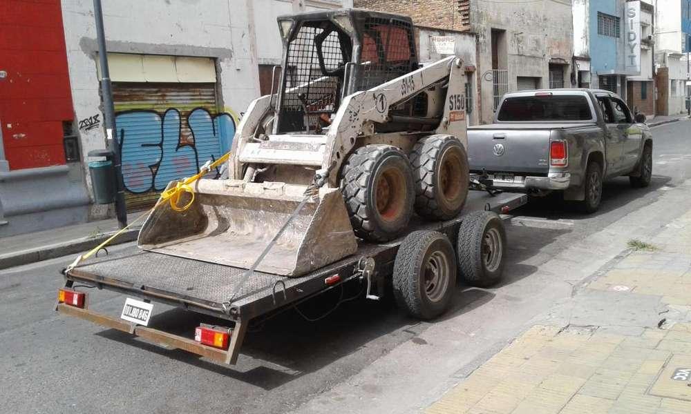 Remolque - Auxilio - Traslado de autos, pickup, Bobcat, autoelevadores, motos, etc.