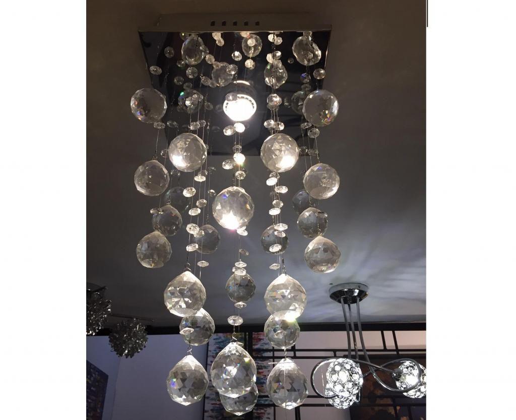 Lámpara con cristales colgante