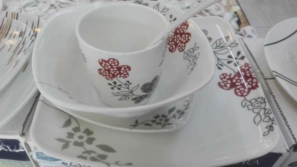 Vajilla en melamina decorada 20 piezas