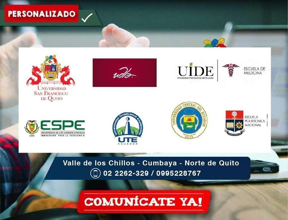 Preparación ingreso Medicina Universidad USFQ/ UDLA
