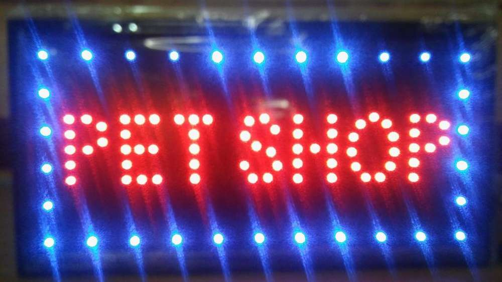 CARTEL LED SET SHOP, SERVICIO TECNICO, CARGA VIRTUAL, BICICLETERIA