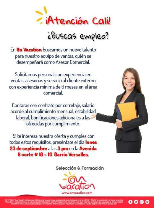Asesor comercial externo - Cali Colombia