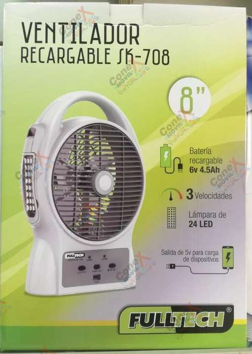 <strong>ventilador</strong> Recargable Full Tech