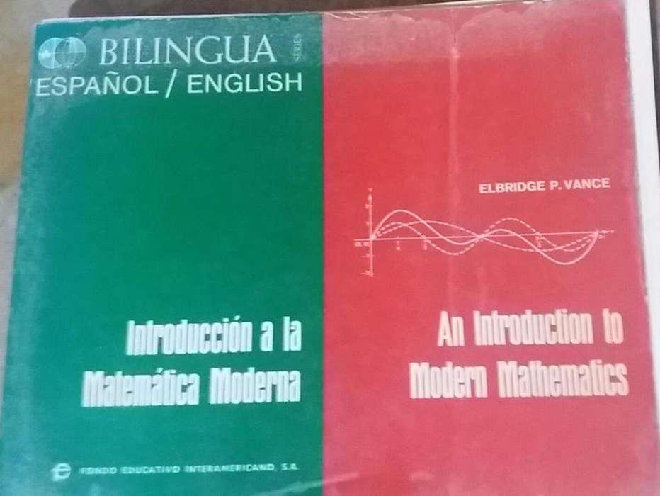 Libro Introducción a la Matemática Moderna Bilingua español/english Elbridge P. Vance