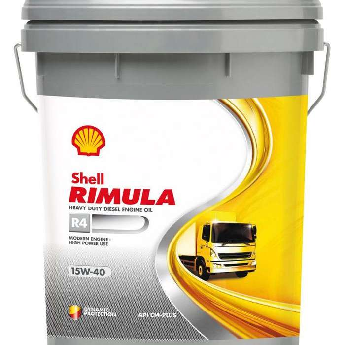 Aceite Motor Shell Rimula R4 15w40 Mineral Balde 20 Litros
