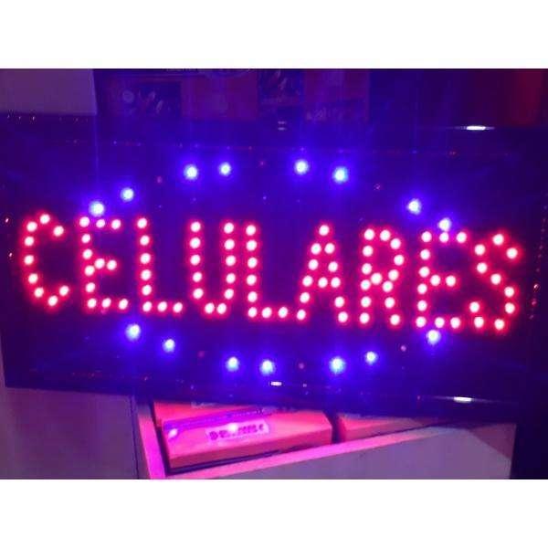 Cartel led CELULARES con interruptor