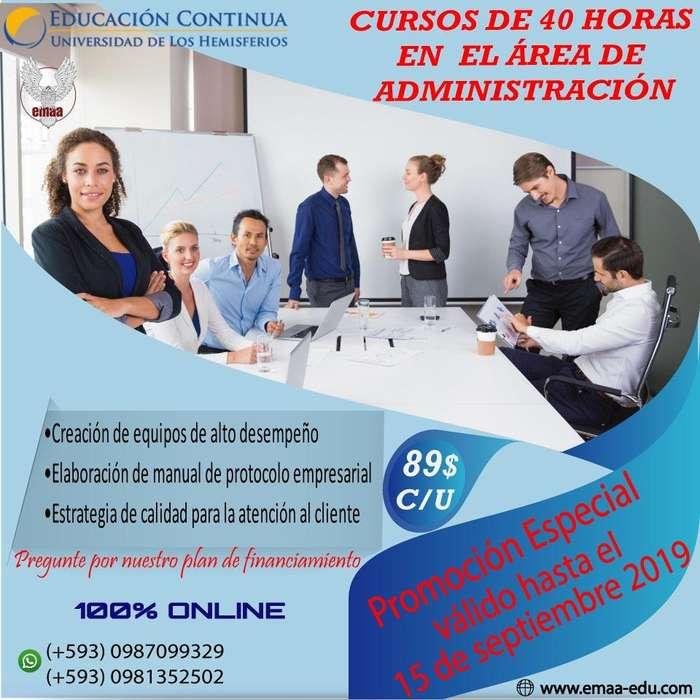 Cursos online de 40 horas en Administración