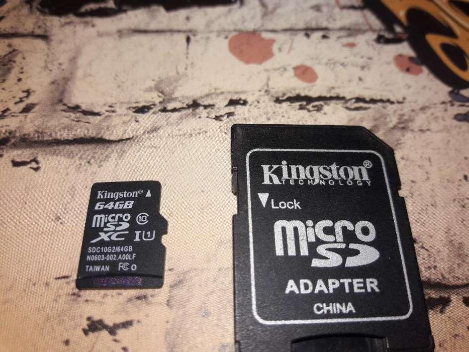 Memoria Micro Sd de 64 Gigas ( Clase 10