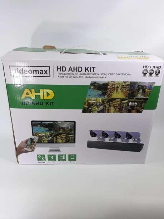 Kit Cámaras hd graba en disco y monitoreo desde el celular