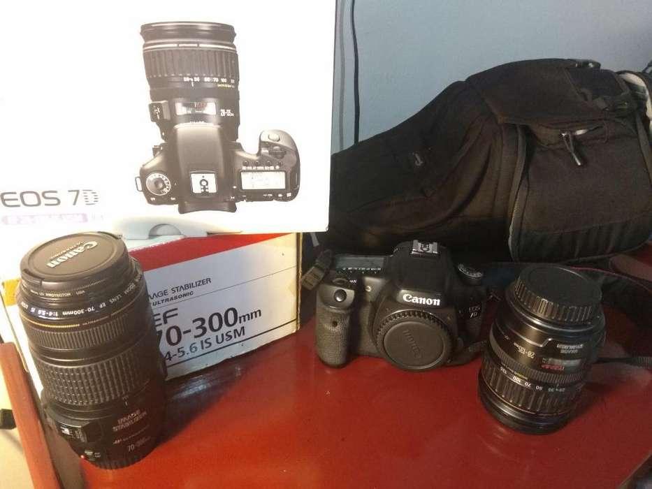 Vendo Camara Canon 7d