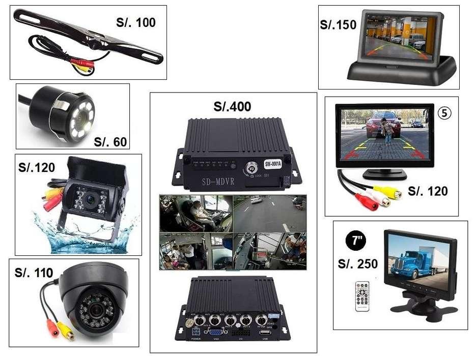 Camara De Retroceso Pantalla MDVR Grabador 256Gb Auto Camión Ómnibus Bus DVR