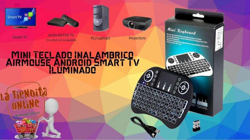 MINI TECLADO INALAMBRICO CONTROL PARA SMART TV CON LUZ INTERIOR