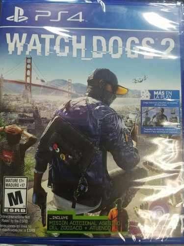 Watch Dogs 2 Ps4 Nuevo Sellado