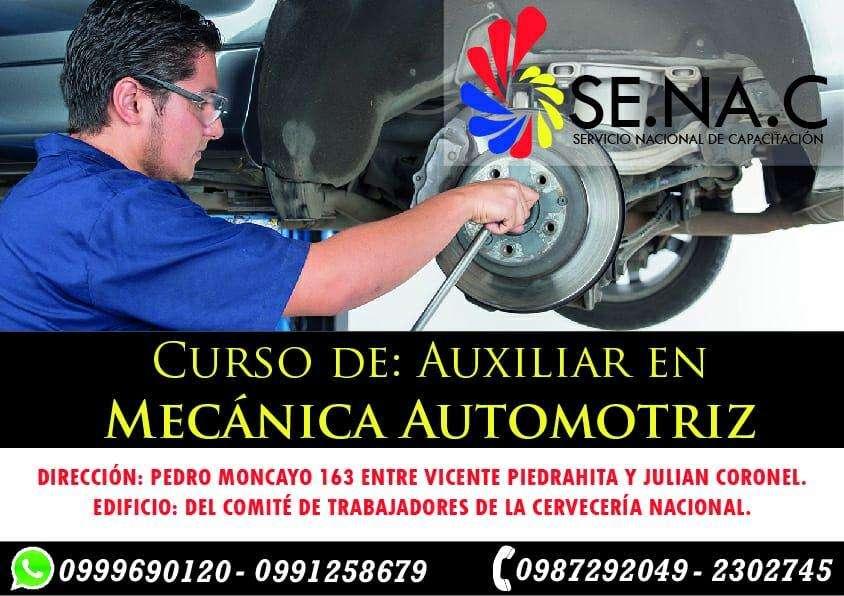 Curso de auxiliar de <strong>mecanica</strong> automotriz