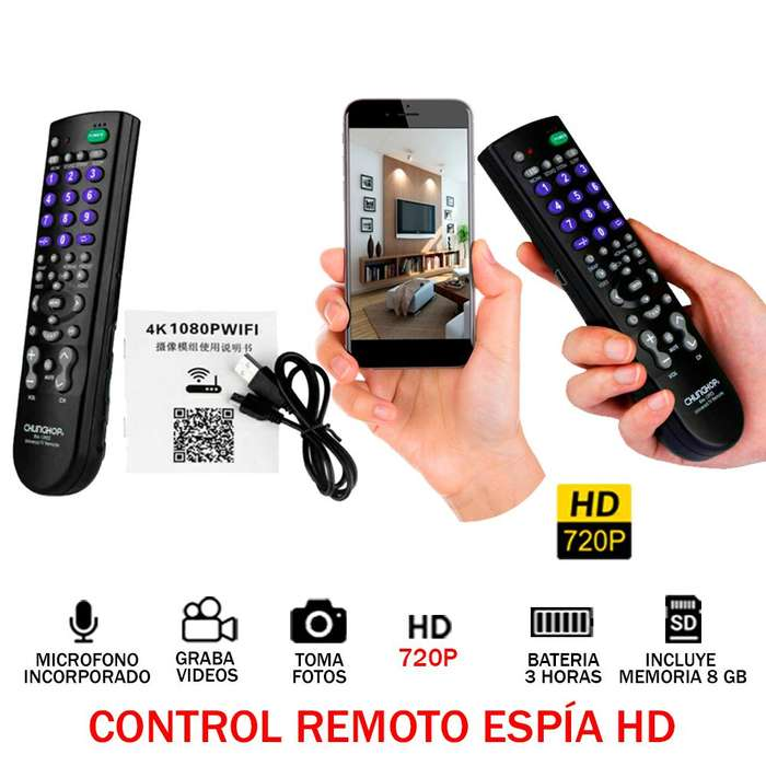 Control Remoto Espia Tv Hd 720p 8gb Audio Video Oculto 3h
