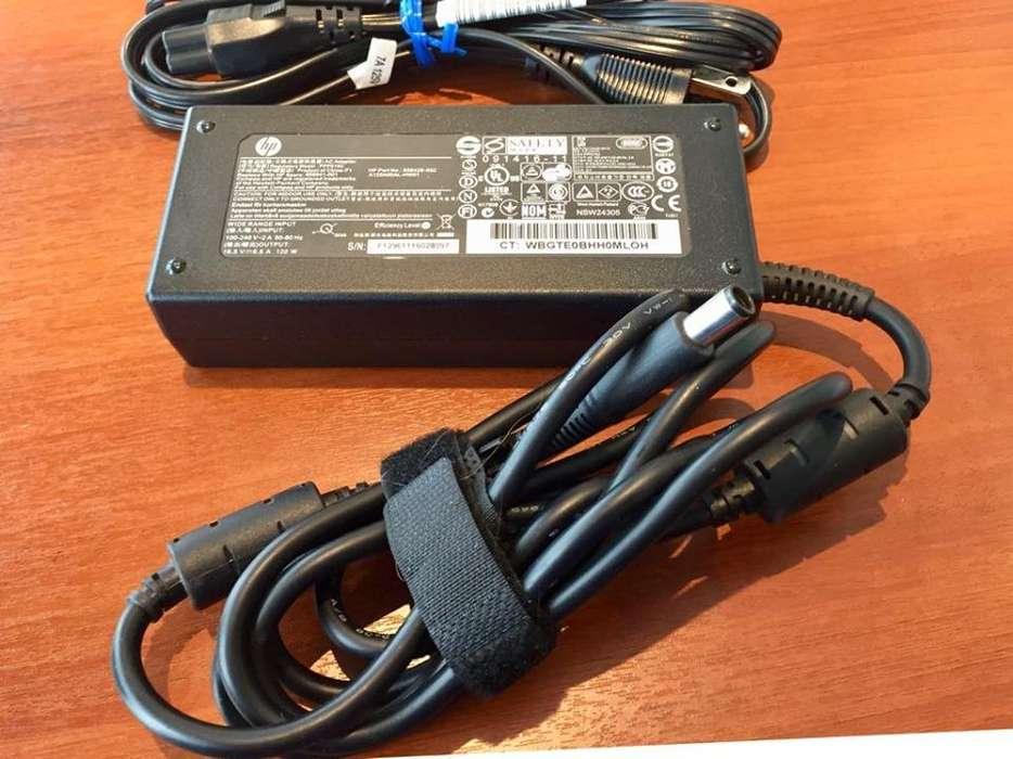Cargador original hp norbook dv7. 2A 50-60HZ 18.5V . 6.5A 120W .Con Cable.