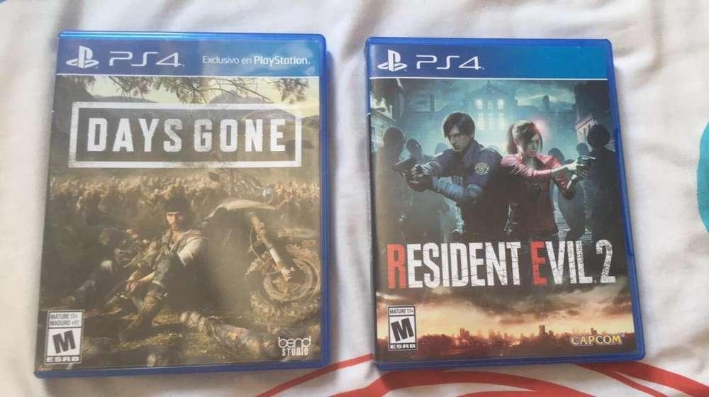 Days Gone -Resident Evil 2 para Play 4