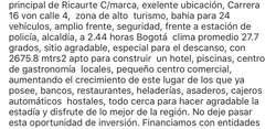 Lote Comercial Ricaurte Cundinamarca