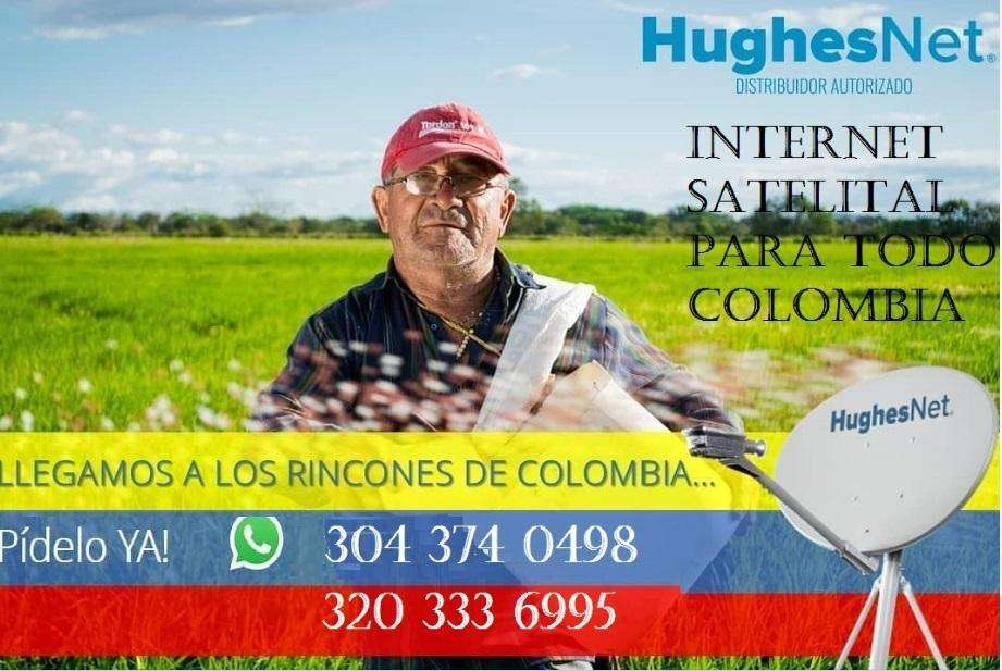 INTERNET SATELITAL PARA TODO COLOMBIA