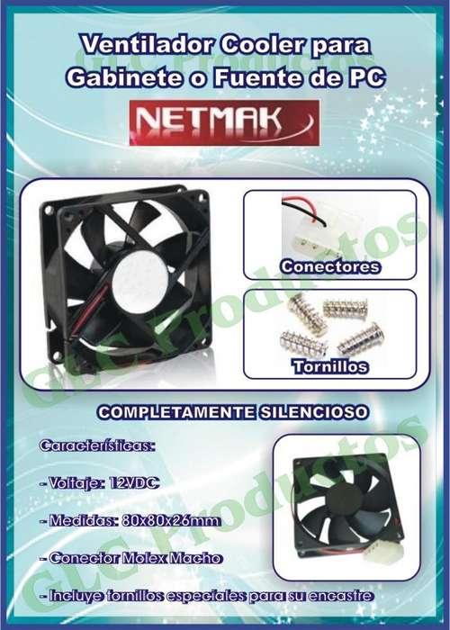 Cooler Netmak 8x8 Fuente Y Gabinete <strong>pc</strong>