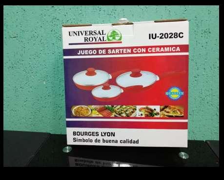 SARTENES EN CERÁMICA X3 UNIVERSAL ROYAL