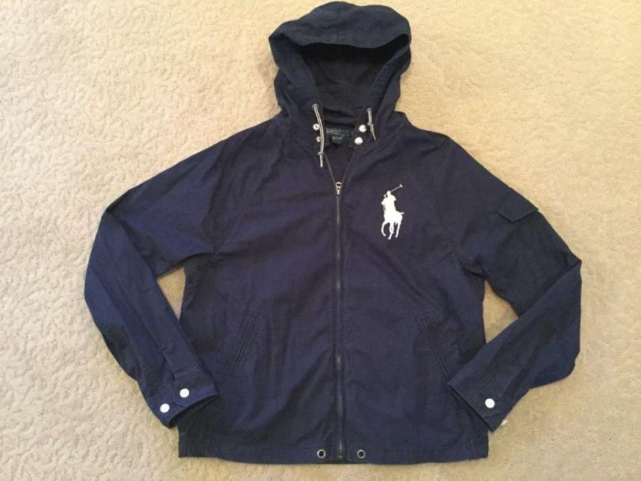Chompa Polo Ralph Lauren Big Pony Hoodie/ Mediumlarge/ Azul