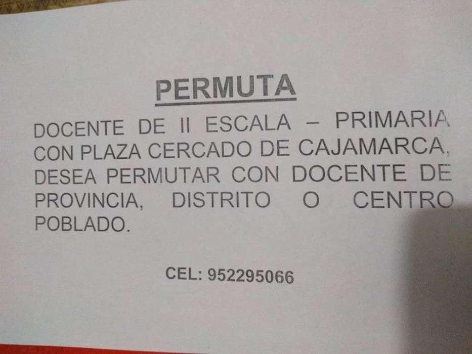 Permuta Docente en Cajamarca