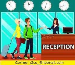 Recepcionista, DOMINIO DEL INGLES. HOTEL en Bquilla